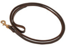 Jeffers Rolled Leather Leashes, 6'