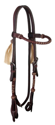 Rolled Rawhide Browband Headstall