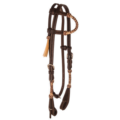 Rolled Rawhide One Ear Headstall