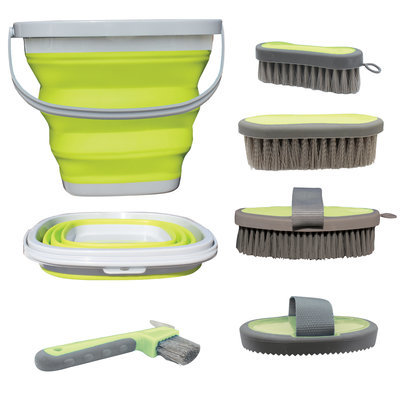 Silicone Horse Grooming Bucket Kit