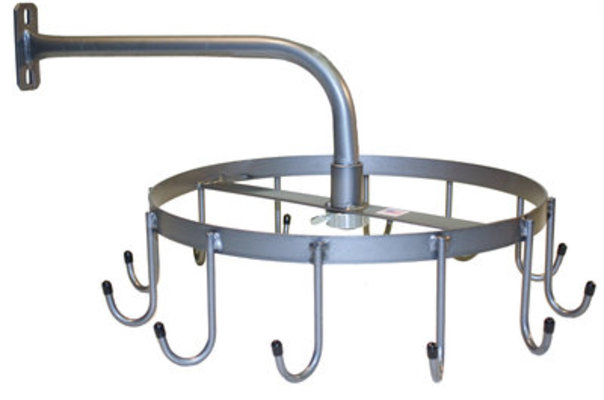 Rotary 12 Hook Wall Mount Bridle Rack
