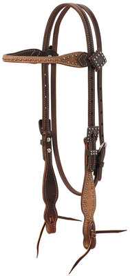 Rough Out Oiled Canyon Rose Browband Headstall