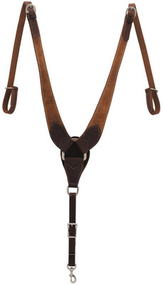 Rough Out Oiled Canyon Rose Pulling Breast Collar