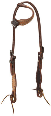 Rough Out Oiled Canyon Rose Sliding Ear Headstall