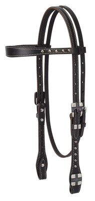 Roundtable Browband Headstall, Black