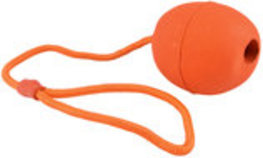 "Rubber Treat Dispensing Toy with 11"" Rope"