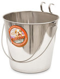 Ruff N' Tuff Stainless Steel Flat Sided Pail, 9 quart