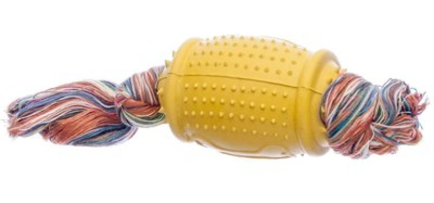 Rugby Ball with Chew Rope