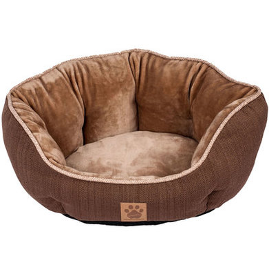 "Rustic Elegance Clamshell Dog Bed, 19"" x 17"""