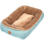 "Rustic Elegance Low Bumper Pet Bed, 28"" x 21"""