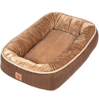 "Rustic Elegance Low Bumper Pet Bed, 36"" x 27"""