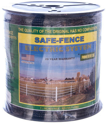 "Black Safe-Fence 1.5"" Polytape, 825' (287 m)"