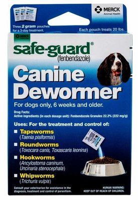 2 gram Safe-Guard Dog Dewormer (3 pkts)