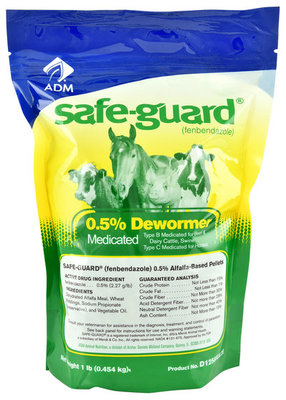 SafeGuard 0.5% Pelleted Cattle & Horse Dewormer, 1 lb