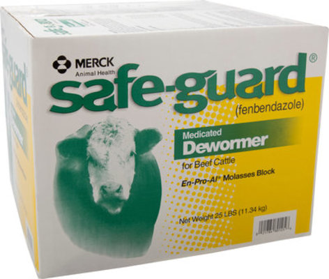 SafeGuard Cattle Dewormer Block