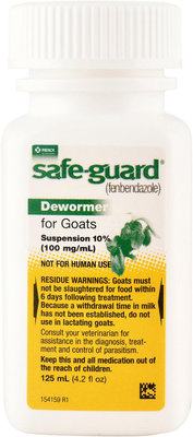 Safe-Guard Goat Dewormer (10% Suspension), 125 mL