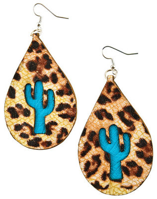 San Saba Cactus Teardrop Earrings