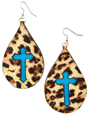 San Saba Cross Teardrop Earrings