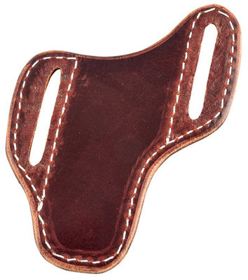 San Saba Leather Pancake Angled Knife Sheath