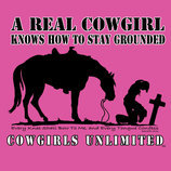 "Cowgirls Unlimited ""Real Cowgirl... Stay Grounded"" T-Shirt"