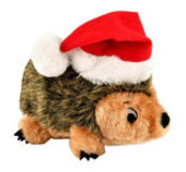 Santa Hedgehogz Dog Toy