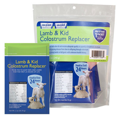 Sav-A-Lam & Kid Colostrum Replacer, (6) 2 oz pouches