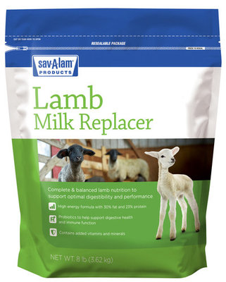 Sav-A-Lam® Milk Replacer, 8 lb resealable bag
