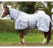 Saxon Combo Neck Softmesh Fly Sheet, Bee Print