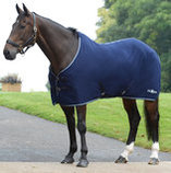 Saxon Element Polar Fleece Horse Cooler, Navy/Mint Trim