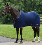 Saxon Element Polar Fleece Horse Cooler, Navy/Pink Trim