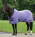 Saxon Element Polar Fleece Horse Cooler, Purple/Navy Trim