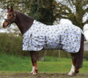 Saxon Standard Neck Mesh Fly Sheet, Bee Print