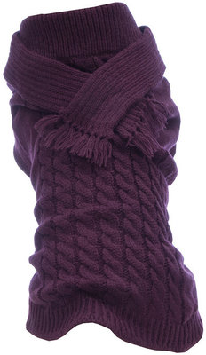 Large Plum Scarf Dog Sweater