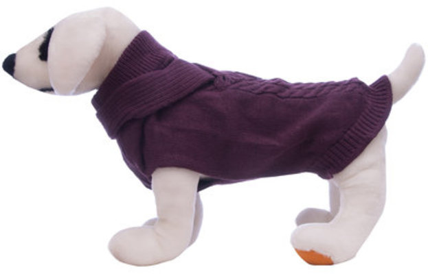 X-Small Plum Scarf Dog Sweater