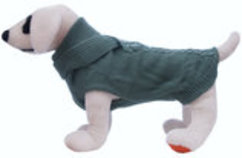 Scarf Dog Sweater, Sage