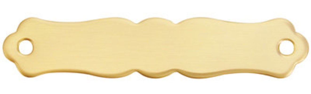 """4"""" x 3/4"""" Brass Scrolled Name Plate"""