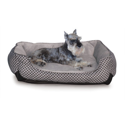 Medium Self Warming Lounge Sleeper, Black/Gray