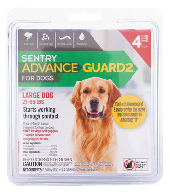 Advance Guard2 for Dogs 21-55 lb (4 pk)