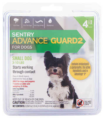Advance Guard2 for Dogs 3-11 lb (4 pk)