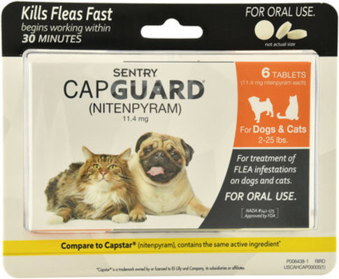 CapGuard for Dogs & Cats (2-25 lb), 6 Tablets