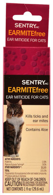 Sentry Earmite Free Ear Miticide for Cats