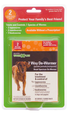 2 count WormX Plus for Large Dog