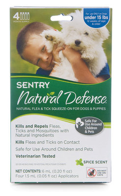 SENTRY Natural Defense Squeeze-On for Dogs