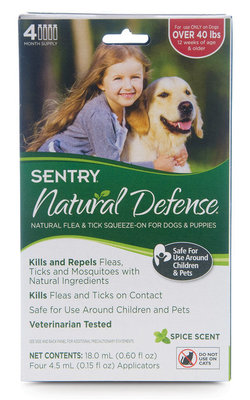SENTRY Natural Defense® Squeeze-On, Over 40 lb