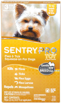 SENTRY® Pro Flea & Tick Squeeze-On for Toy & Small Breed