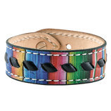 Serape with Black Buckstitch Bracelet