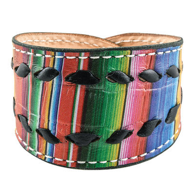 Serape with Black Buckstitch Cuff