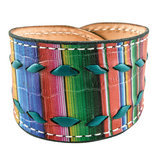 Serape with Turquoise Buckstitch Cuff