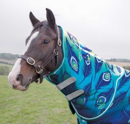 """Shires Tempest """"Lime Peacock"""" Neck Cover"""