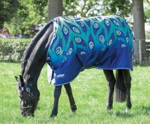"""Shires Tempest """"Lime Peacock"""" Waterproof Sheet"""